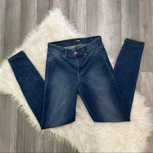 FashionNova High Rise Dark Wash Skinny Jeans